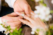 stock photo of marriage proposal  - Couple  - JPG