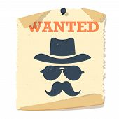 Wanted poster vector icon. poster
