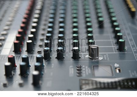 Sound Technician Audio Mixer Equalizer Control sound Mastering For Radio  And Tv Broadcast  poster