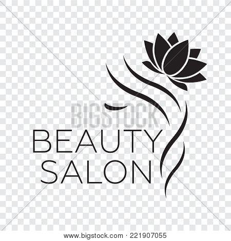 poster of Logo template for hair salon, beauty salon, cosmetic procedures, spa center. Beauty logo for hair salon