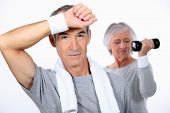 picture of transpiration  - senior couple doing fitness - JPG
