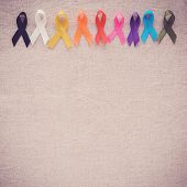 Colorful Ribbons, Cancer Awareness, World Cancer Day Background poster