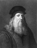 Leonardo Da Vinci (1452-1519). Engraved by J.Pofselwhite and published in The Gallery of Portraits w