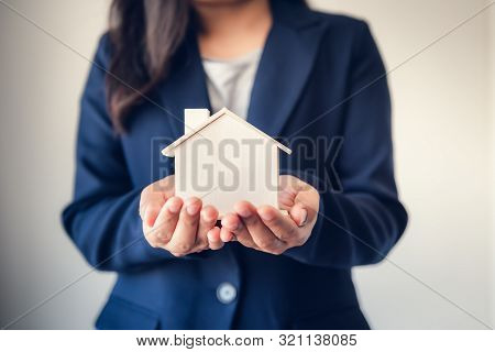 poster of Business Real Estate And Residential Investment Concept, Broker Sell Agency Advisor Of Property Esta