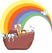 foto of noah  - A cartoon version of the bible story of Noah - JPG