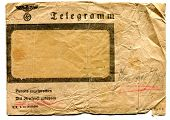 foto of telegram  - Envelope of telegram from Nazi occupation in Poland - JPG