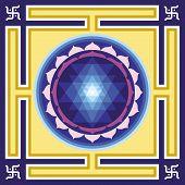 stock photo of tantra  - Vector Shri Yantra for tantra and meditation - JPG