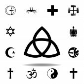 Religion Symbol, Paganism Icon. Element Of Religion Symbol Illustration. Signs And Symbols Icon Can  poster