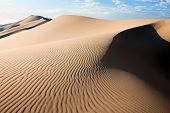stock photo of quicksand  - sand dunes on the desert  of mongolia - JPG