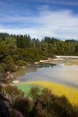 Champagne Pool An Active Geothermal Area, New Zealand poster