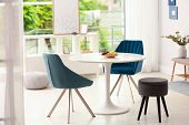 Modern Dining Room Interior With Table And Chairs poster