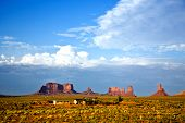 stock photo of stagecoach  - giant sandstone formation in the Monument valley - JPG