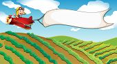image of riding-crop  - Illustration of a boy riding in a plane - JPG