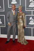 LOS ANGELES - FEB 10:  Tito Ortiz, Jenna Jameson arrive at the 55th Annual Grammy Awards at the Stap