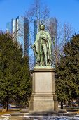 Statue Of Friedrich Schiller In Frankfurt