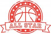 Baloncesto All Star Vector apenado