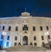 stock photo of prime-minister  - The Auberge de Castille houses the office of the Prime Minister of Malta in Valletta - JPG