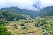 picture of ifugao  - Philippines rice terraces in the valley Hapao Banaue - JPG
