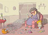 foto of grandma  - Grandma Crochet Maze Game - JPG
