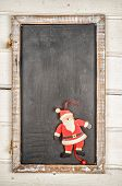 Blackboard With Santa Claus