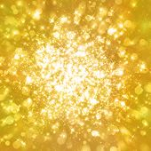 pic of twinkle  - Glittering stars on golden glittering background - JPG