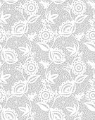 Seamless white floral lace pattern