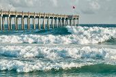 Surf's Up at Pensacola Beach Fishing Pier