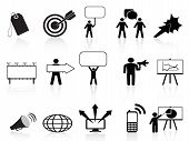 Black Marketing Icons Set