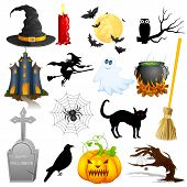 pic of cauldron  - easy to edit vector illustration of Halloween Object - JPG