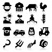stock photo of truck farm  - Farm Icons Two - JPG