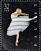 A stamp printed in United States of America shows American ballet