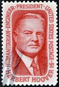 United States - Circa 1965: Stamp Printed By United States, Shows Herbert Hoover, Circa 1965