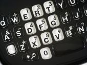 foto of qwerty  - Smart Phone keypad Qwerty keys close up - JPG