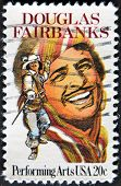 Usa - Circa 1999 : Stamp Printed In Usa Shows Douglas Fairbanks An American Actor, Circa 1999