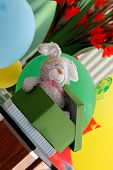 Stuffed Rabbit Toy in Elaborate Gift Box