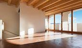 foto of chalet interior  - classic empty loft - JPG