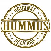 picture of peculiar  - Stamp with word hummus inside - JPG