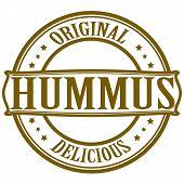 image of peculiar  - Stamp with word hummus inside - JPG