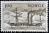 a stamp printed in Norway shows Norwegian Ships