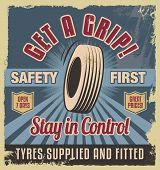 foto of garage  - Vintage metal sign - JPG
