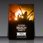 foto of beats  - Summer Beach Party Flyer  - JPG