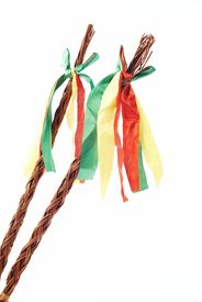 picture of flogging  - Czech Easter rods on a white background - JPG