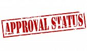image of status  - Rubber stamp with text approval status inside vector illustration - JPG