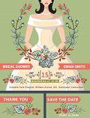 pic of bridal shower  - Bridal shower invitation set - JPG