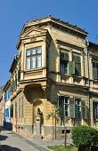 stock photo of sibiu  - sibiu city romania schiller square house landmark architecture - JPG