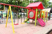 picture of playground school  - a colorful playground in school  - JPG