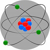 stock photo of nucleus  - atom structure with nucleus and electron around - JPG
