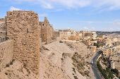 picture of crusader  - Al Karak/Kerak Crusader Castle Fortress in Jordan Middle East.