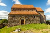 stock photo of sibiu  - Saxon Church in Cisnadioara Sibiu - JPG