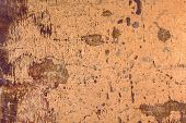 stock photo of oxidation  - Texture of the old copper with oxidation and scratches - JPG